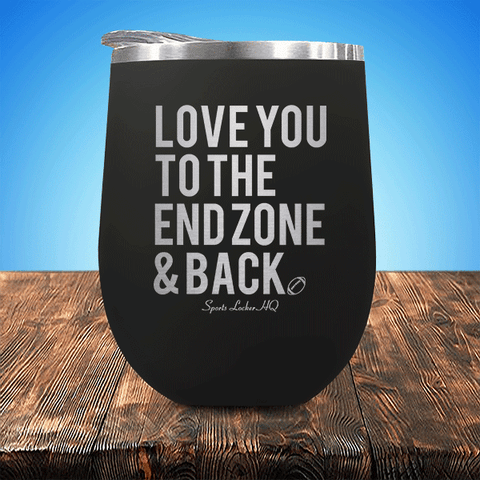 Football Love End Zone Back Stemless Wine Cup SA314