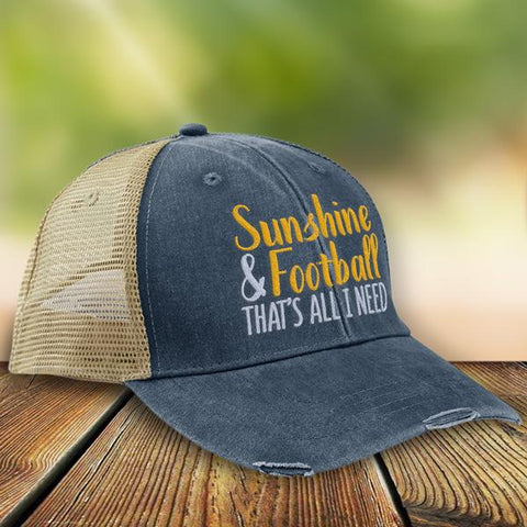 Sunshine & Football That's All I Need Premium Trucker Hat LW11