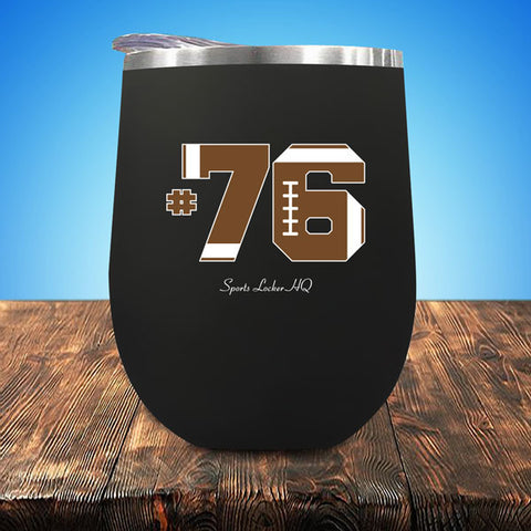 Football #76 Stemless UV Wine Cup A802