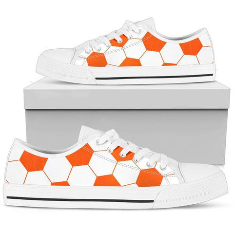 Soccer Orange Premium Low Top Shoes