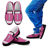 Football Hot Pink Premium Slip-On Shoes