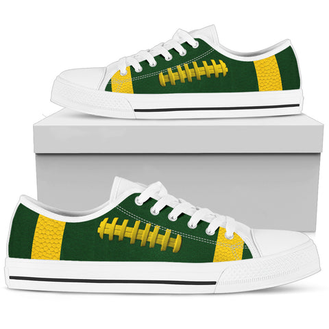 Football Green With Gold Premium Low Top Shoes