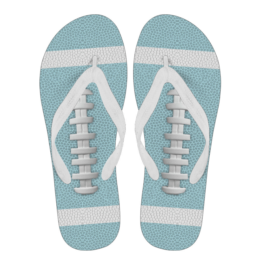 Football Light Blue Flip Flops