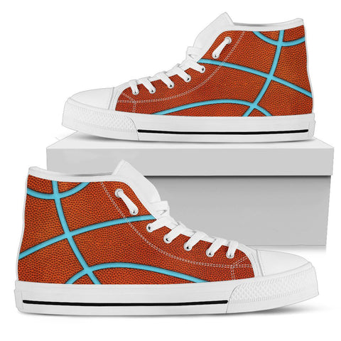 Basketball Light Blue Premium High Top Shoes
