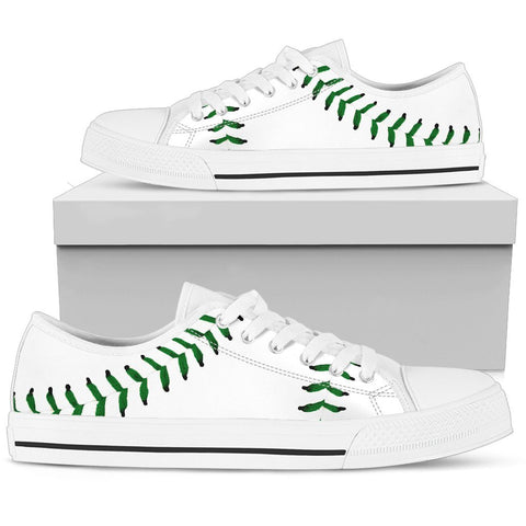 Baseball Green Premium Low Top Shoes