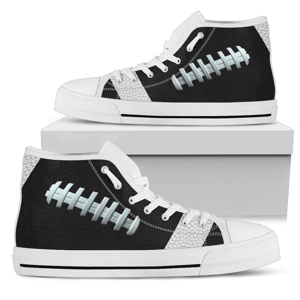 Football Black Premium High Top Shoes