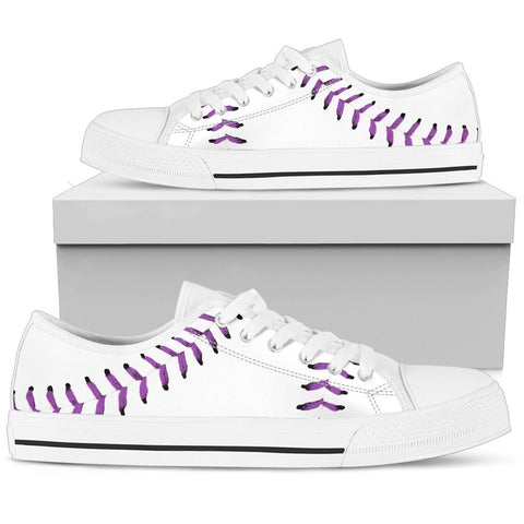 Baseball Purple Premium Low Top Shoes