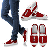 Football Red Premium Slip-On Shoes
