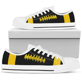 Football Black With Gold Premium Low Top Shoes