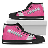 Football Hot Pink Premium High Top Shoes