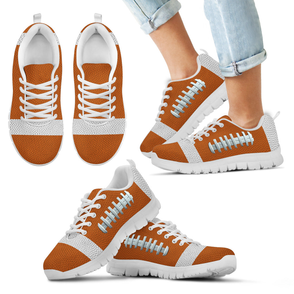 Football Orange Premium Kids Sneakers