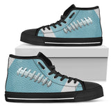 Football Light Blue Premium High Top Shoes