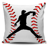 Baseball Silhouette Pillow Covers