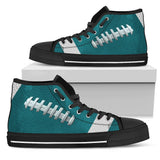 Football Teal Premium High Top Shoes