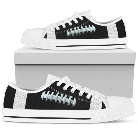 Football Black Premium Low Top Shoes