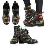 Baseball Camo Leather Boots