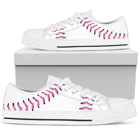 Baseball Pink Premium Low Top Shoes