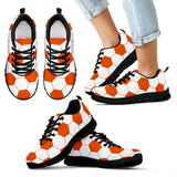 Soccer Orange Premium Kids Sneakers