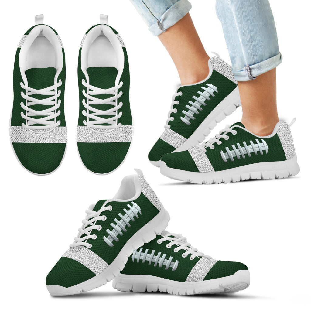 Football Green Premium Kids Sneakers