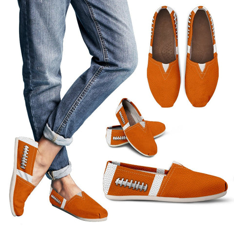 Football Orange Premium Casual Shoes