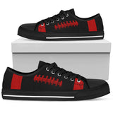 Football Red With Black Premium Low Top Shoes