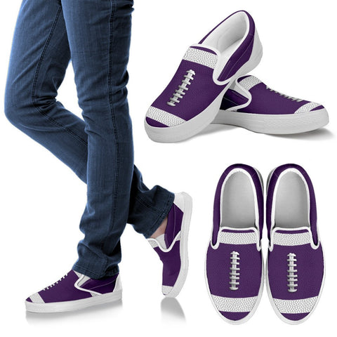 Football Purple Premium Slip-On Shoes