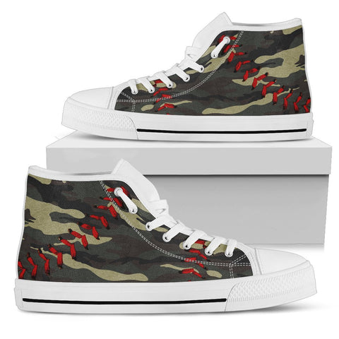 Baseball Camo Premium High Top Shoes