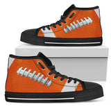 Football Orange Premium High Top Shoes