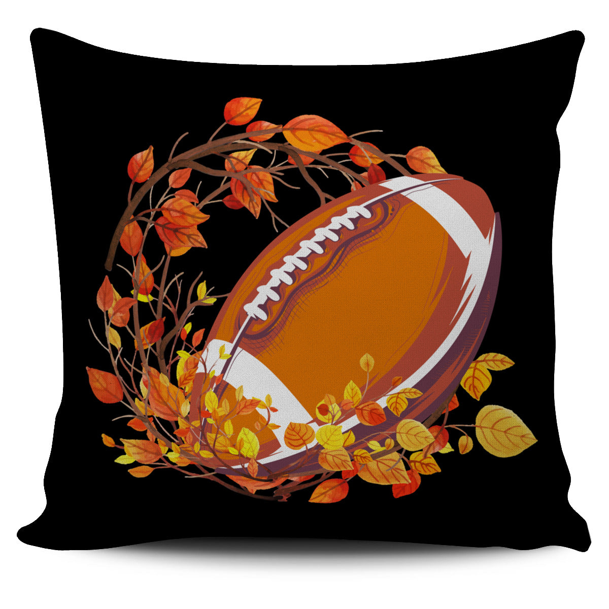 Football Autumn Leaves Pillow Cover EV87