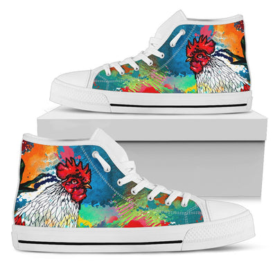 Colorful Chicken High Top Shoes