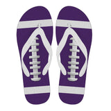 Football Purple Flip Flops