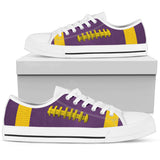 Football Purple With Gold Premium Low Top Shoes