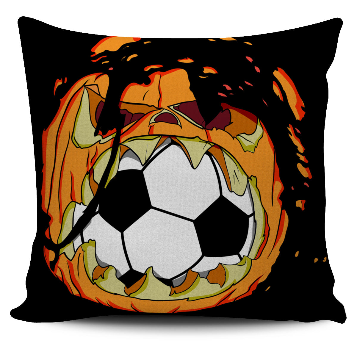 Soccer Pumpkin Pillow Cover EV61