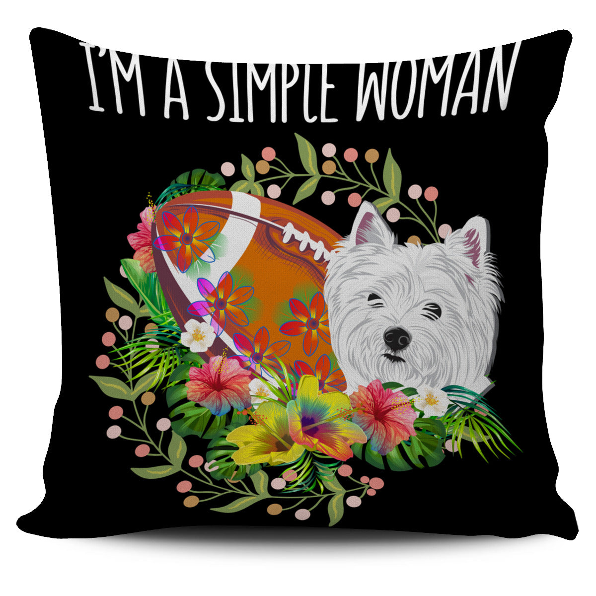 Football Terrier Simple Woman Pillow Cover EV69