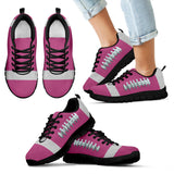 Football Hot Pink Premium Kids Sneakers