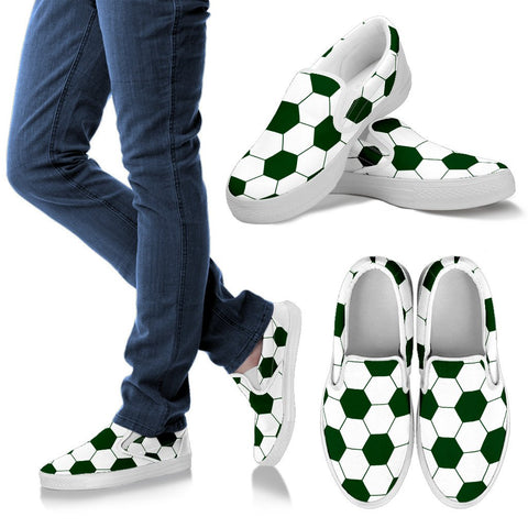 Soccer Green Premium Slip-On Shoes