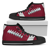 Football Burgundy Premium High Top Shoes
