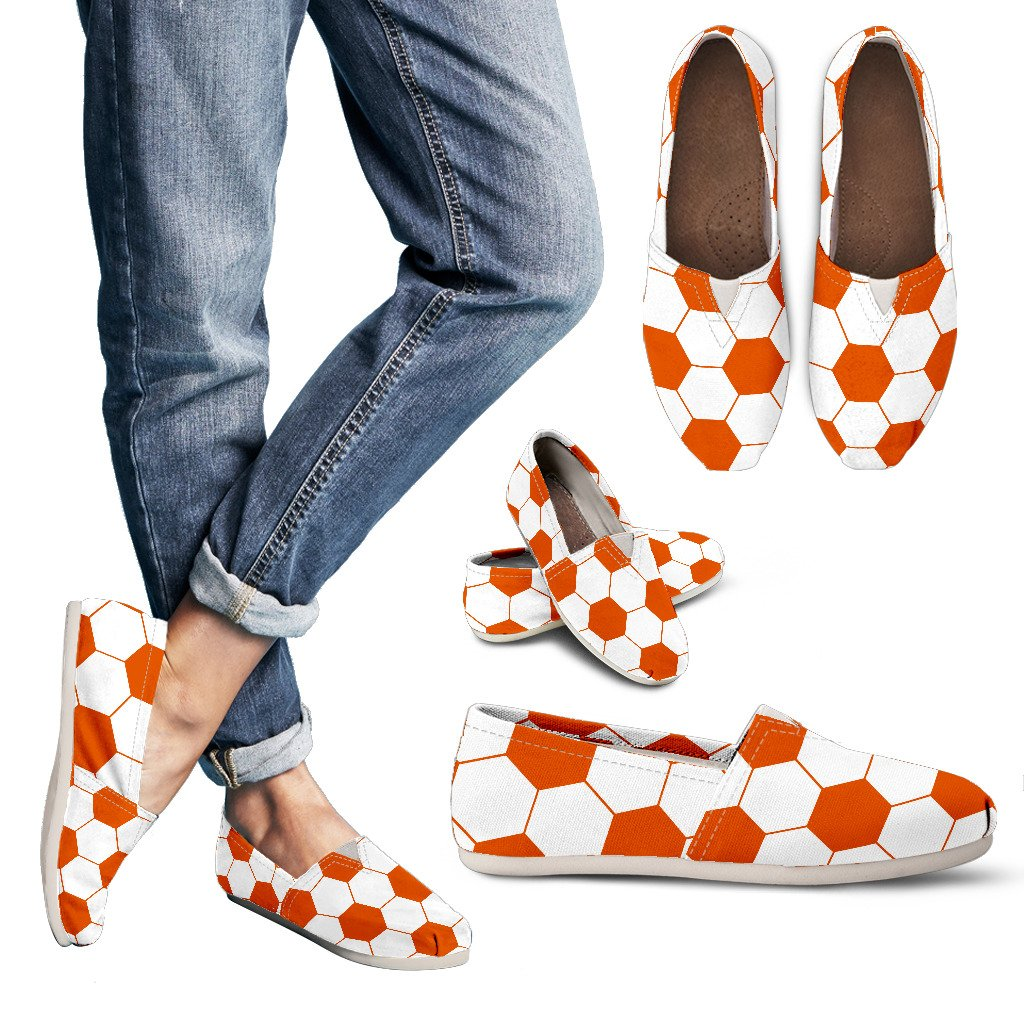 Soccer Orange Premium Casual Shoes