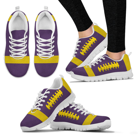 Football Purple With Gold Premium Sneakers
