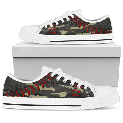 Baseball Green Camo Premium Low Top Shoes