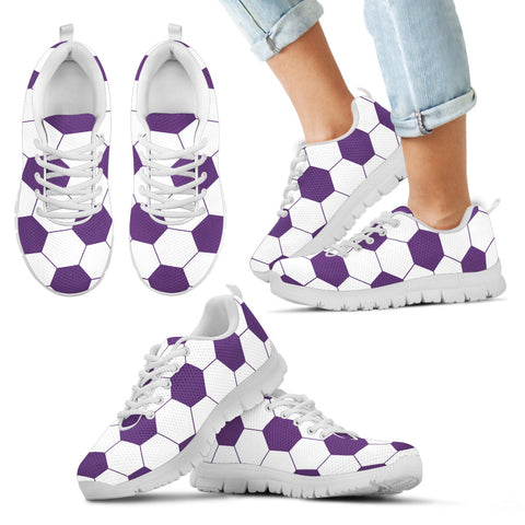 Soccer Purple Premium Kids Sneakers