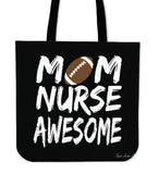 Football Mom Nurse Awesome Linen Tote Bag SA283