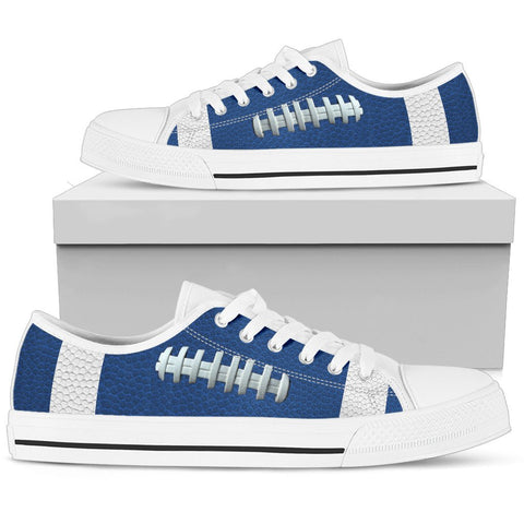 Football Blue Premium Low Top Shoes