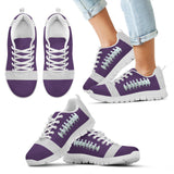 Football Purple Premium Kids Sneakers