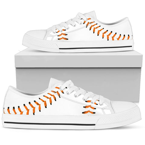 Baseball Orange Premium Low Top Shoes