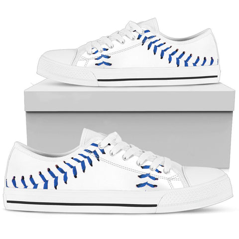 Baseball Blue Premium Low Top Shoes