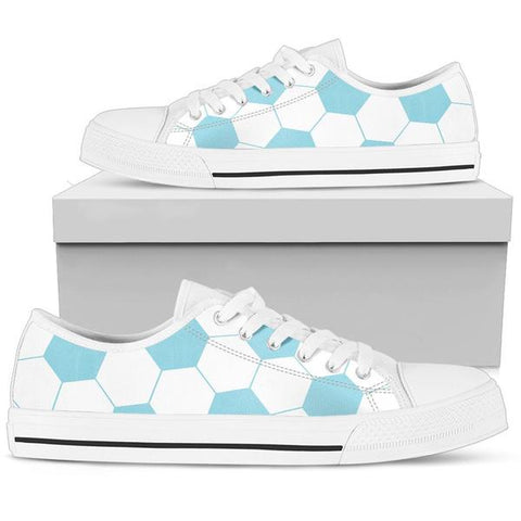 Soccer Light Blue Premium Low Top Shoes