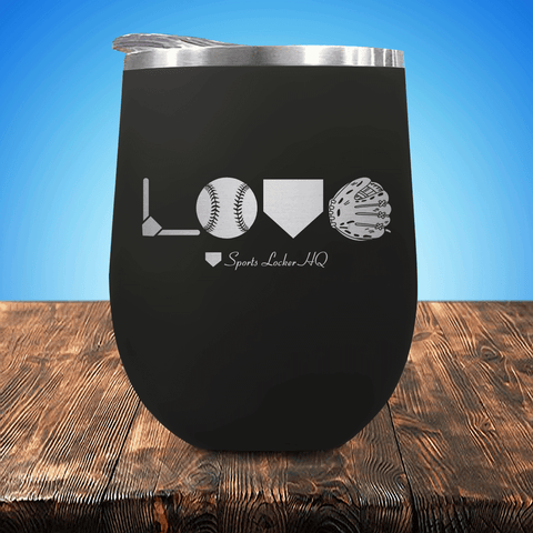 Baseball/Softball LOVE Stemless Wine Cup