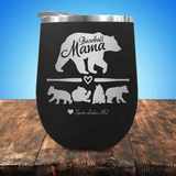 Baseball Mama Bear 4 Cubs Stemless Wine Cup