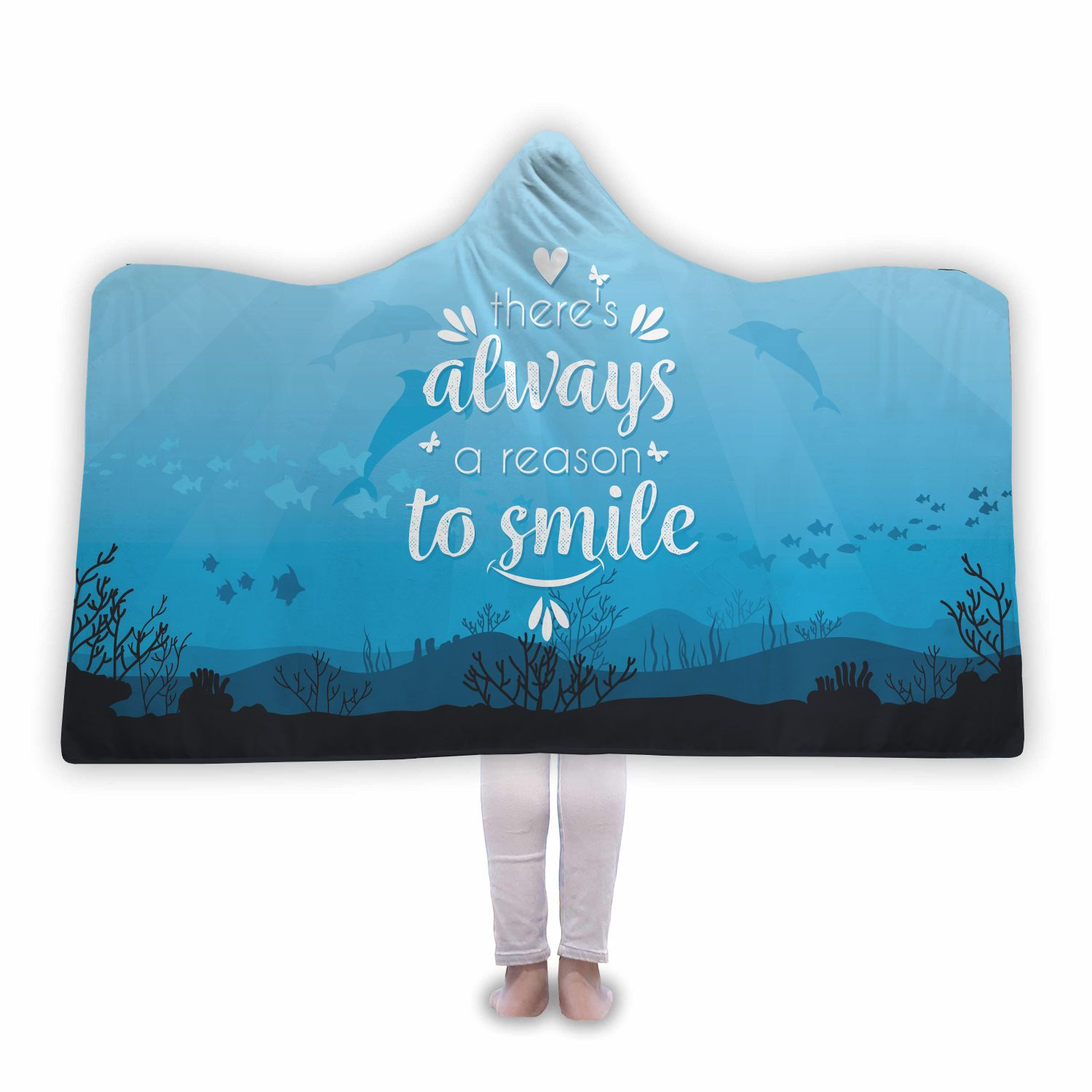 Dolphin Premium Hooded Blanket